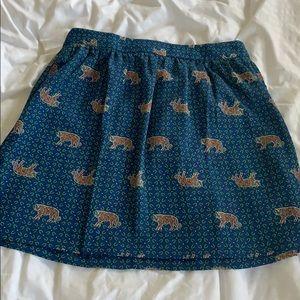 J. Crew like new skirt with tiger print